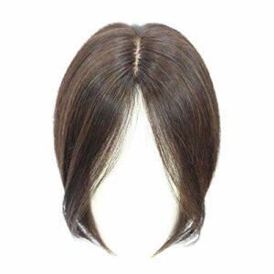 Cheveux clairsemés Cheveux Gris Cheveux pour Femmes Base en Soie Top Postiches Clip dans la Partie Centrale Topper Accessoires de Maquillage