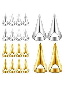 Cheveux Séparation des ongles Cheveux Sélection Outils Toilettes rétro Anneaux de coiffure Bagues 10pcs Silver Beauty Tool à Beauté
