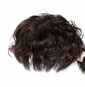 Clip in Curly Crown Toppers Toppers de Cheveux Humains attachés à la Main réalistes pour Femmes pour Accessoires de Maquillage féminin