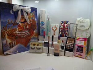 Cyber Monday Lot de 16 sachets cadeau pour femme Coffret cadeau de maquillage avec fleurs aquatiques + ongles + produits de maquillage + cils + collier et boucles d'oreilles