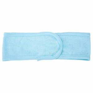 dgtrhted Maquillage Doux Serviette sèche-Cheveux cosmétiques Bain Douche élastique Bandeau Bleu