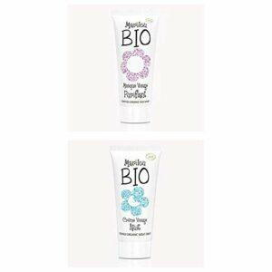 Duo de produit de beauté MARILOU BIO – Gamme Classic – Masque visage purifiant – Crème nuit