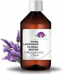 Eau Florale Organique de Lavande Hydrolat 100% Pure 100 ml Lotion Peau Sensible, Lotion Bébé, Lotion Après Rasage, Lotion Après Épilation.