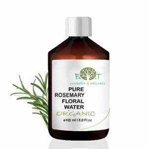 Eau Florale Organique de Romarin Hydrolat 100% Pure 100 ml Lotion Peau Sensible, Lotion Bébé, Lotion Après Rasage, Lotion Après Épilation.