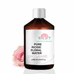 Eau Florale Organique de Rose Hydrolat 100% Pure 100 ml Lotion Peau Sensible, Lotion Bébé, Lotion Après Rasage, Lotion Après Épilation.