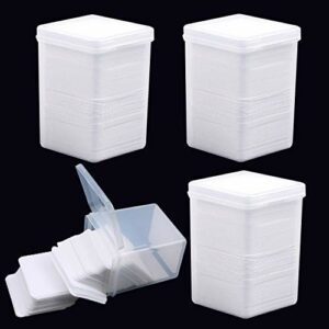 EBANKU 800 Pièces Lingettes Coton Ongles Gel Vernis Remover Wipes Lingettes Non Pelucheux Ongles Tampon Colle Bouteille Nail Art Cils Lingette Bouteille Outil