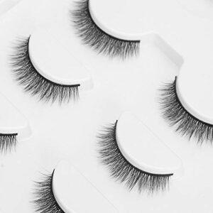 Ensemble de faux cils Outil de maquillage des cils Eyeliner pratique pour le salon à usage domestique(Emballage boîte verte E40)
