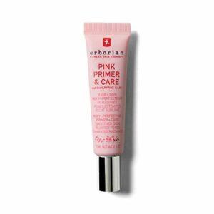ERBORIAN Pink Primer & Care Base de Teint Eclat Perfecteur de Peau, Effet Grain de Peau Affiné 0.035 kg 1 Unité