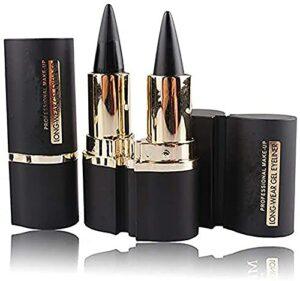 Eyeliner gel crème imperméable, ensemble d'eyeliner gel crème, crayon pour les yeux autocollants eye-liner noir longue durée (2 pcs)