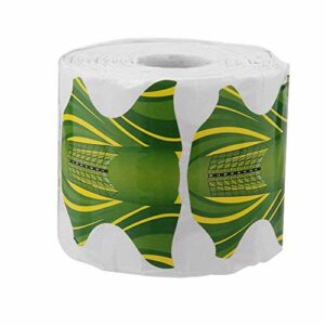 Facibom 500pcs Nail Art acrylique Tip Guide Gel Extension ongles style outils Curl formes pour soins des ongles Vert