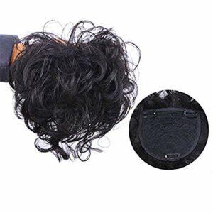 Fermeture pour Les Femmes aux Cheveux clairsemés 13x14cm Clip en Couronne Topper Topper Cheveux Humains Accessoires de Maquillage pour Cheveux