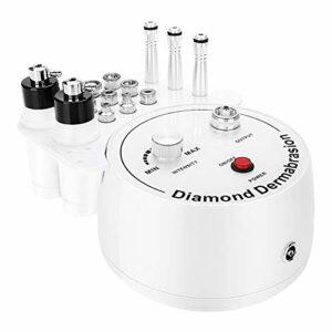 FOKH Machine de microdermabrasion au Diamant, Machine Professionnelle de dermabrasion au Diamant 3 en 1 avec 9 têtes de Diamant Machine de rajeunissement du Visage pour Les Soins de la Peau(EU)
