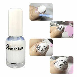 Frenshion 10ML Décoller Liquide Latex Nail Bord Liquide Base Manteau Cuticule Garde Peau Barrière Protecteur Nail Art Équipement Parfait Pour Manucure et Pédicure