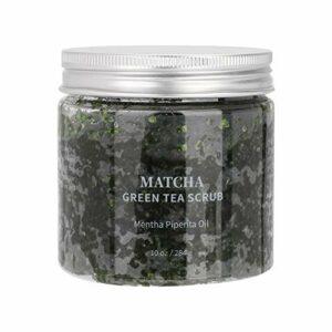 Gommage exfoliant pour le corps, exfoliant pour le corps au thé vert Gommage ultra hydratant et hydratant 100% exfoliant au sel de la mer Morte ont du Jojoba pour lisser la peau