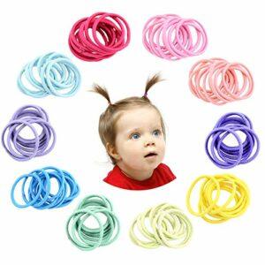 Hanyousheng 200 Pièces Petit Elastique à Cheveux,2.5 cm Multicolore Cheveux Bande de Cheveux Élastique Porte, Bandes Élastiques Pour Cheveux,Élastique Cheveux Enfant Bandes Accessoire en Caoutchouc