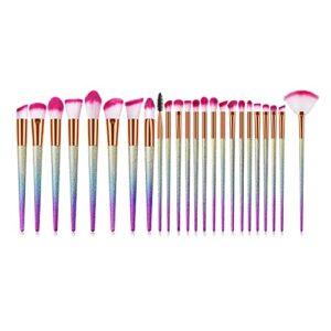 Harmonious Lot de 24 brosses de maquillage en forme de cône – Pour le maquillage et le gommage – Pour les sourcils