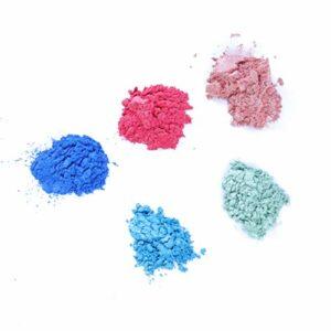 HEALLILY 5 Pcs Maquillage Pigment Fard À Paupières Maquillage Des Yeux Ombre Nail Art Glitter Lèvres Surligner Poudre Pour DIY Savon Rouge À Lèvres Cosmétique Bougie Fabrication (5 Couleurs)
