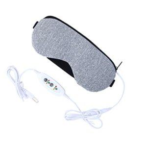 HEMOTON Masseur d'Yeux avec 3 Modes USB Rechargeable Sommeil Nocturne Améliore le Sommeil Massage des Yeux Confortable pour soulager la fatigue des yeux
