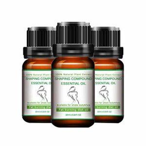 Huile Essentielle Amincissante,Anti-Cellulite Crème de Massage Pour la Perte de Poids-Puissant Effet de Combustion des Graisses,Pour les Bras/Taille/l'abdomen inférieur/Fesses/Cuisses (10ML*3)