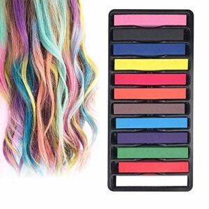 INTVN Coloration Temporaire Cheveux Craie, Craie pour Cheveux,Teinture Cheveux,temporaire des cheveux Pastel Chalk Kit,adultes enfants cadeaux pour fille et femme pour fête, anniversaire, Cosplay