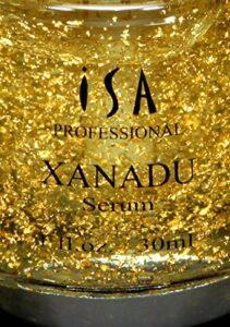 ISA Professional Isa Xanadu Professionnel 24K Or Vitamine C Sérum Maquillage Premier Acide Hyaluronique, Vitamine E Hydratant Rose et Fondation Primer