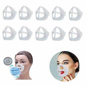 Jolik Lot de 10 Supports intérieurs pour Visage 3D pour Une Respiration Confortable, Cadre de Support intérieur | Protection sous Le Cadre pour Rouge à lèvres pour Garder Le Tissu Hors de l