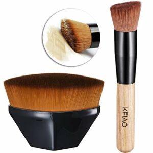 KFiAQ Pinceaux Maquillages Set, Foundation Brush En Forme De Pétale avec Pinceau Fond de Teint Pinceaux à Maquillage Kabuki