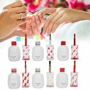 Kit de vernis à ongles 6 couleurs Vernis à ongles en gel pour filles pour le maquillage à usage domestique pour le bricolage des ongles