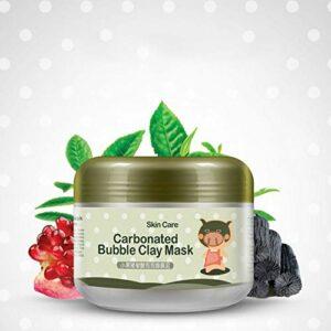 Kybbe Masque Argile Masque de Boue Bulles Carbonaté Hydratant Masque de Sommeil Nettoyage Profond Eclaircissant Soin de Peau Beauté 100g
