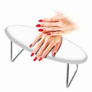 Laelr clouer bras de repos, résistant à l'usure manucure main oreiller en microfibre cuir table amovible bureau ongles étanche coussin de repos pad holder support pour technicien nail utilisation