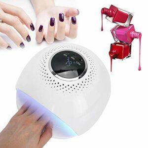 Lampe de séchage pour vernis à gel, machine de durcissement des ongles sûre et hygiénique Séchoir à vernis à gel Écran LCD pratique pour le nettoyage Rechargeable pour salon de manucure(Transl)