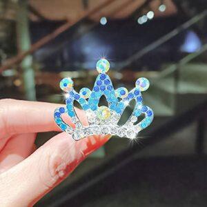 LANHUAN Sweet Girls Diamond Crown Crown Crown Peignes Cheveux de Chat de Lapin Brillant Insérer des épingles à Cheveux en épingles de Cheveux Princess Strass Accessoires (Color : 15)