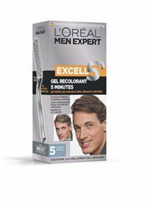 L'Oréal Men Expert Excell 5 Gel-Crème Recolorant pour Homme, Coloration des Cheveux Gris & Blancs, Sans Ammoniaque, Châtain Naturel (5)