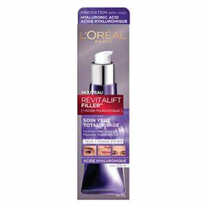 L'Oréal Paris – Revitalift Filler – Soin Anti-Âge Contour des Yeux Total Visage – À l'Acide Hyaluronique – 30 ml