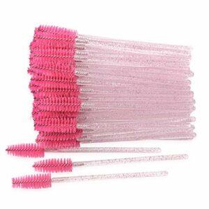 Lot de 300 brosses à mascara jetables pour application de cils – Rose clair/pêche