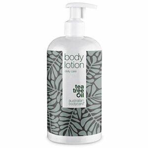Lotion Corporelle Australian Bodycare Body Lotion (500 ml) | Pour Peau Hydratée | Soulage Boutons, Mycose, Démangeaisons, Odeurs Corporelles et Pieds Malodorants | À l'Huile d'Arbre à Thé