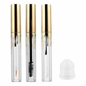 Luxshiny Lot de 3 pots transparents vides pour mascara et gloss à lèvres