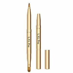 L.Y.L Pro Gold Pinceaux de maquillage rétractable à double extrémité Rouge à lèvres Rouge à lèvres Gloss Maquillage pour cadeaux de Noël