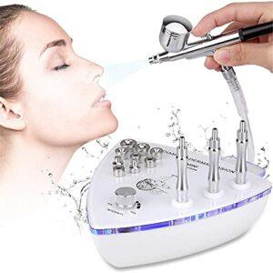 Machine professionnelle de microdermabrasion au diamant Machine de dermabrasion par pulvérisation d'oxygène 3 en 1, Puissance d'aspiration 65-70cmhg Soins de la peau du visage Appareil de beauté
