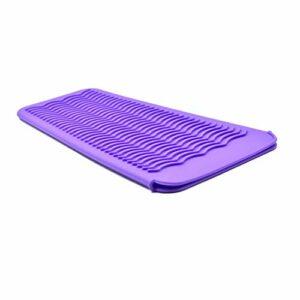 Marque Amazon – Tapis résistant à la chaleur en silicone Eono pour fer à friser, pochette portable pour outils de cheveux chauds en fer plat