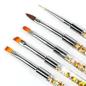 MARSPOWER BEST195-05 Portable Nail Tool Pen Nylon Cheveux Peinture Fleur Peint Dessin Stylo Conception Ergonomique Stylo À Ongles-1