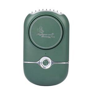 MARSPOWER USB Ventilateur De Refroidissement sans Feuille Portable Rechargeable ION Négatif Greffe De Cils Ongles Séchoir Outil De Beauté – Vert
