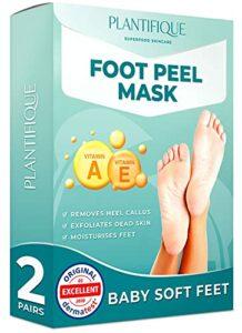 Masque pied Plantifique – Testées Dermatologiquement Peeling Pied Vitamines pour soin des pieds – Efficace pour les callosités, les peaux mortes et sèches – Répare les talons crevassés – 2 Paires