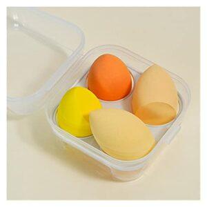 MIAOMIAO 15 Ensembles 4PCS Étiquette privée Mélangeur de Maquillage Cosmétique Sponge de Maquillage Cosmétique avec boîte de Rangement Boîte à Poudre Sponge Humide et Sec Service