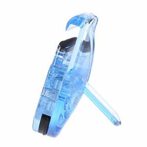 Mini recourbe-cils portable avec clip en caoutchouc naturel pour les soins des cils
