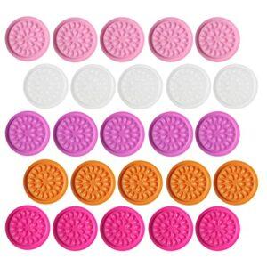 Minkissy 150 Pièces En Plastique Colle Pad Titulaire de La Colle Cils Faux Cils Colle Plateau Palette Cils Joint Adhésif Pigment Titulaire pour Nail Art De Tatouage Cils Extension