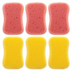 Minkissy 6Pcs Douche Éponges Honeycomb Éponges de Bain Exfoliation de La Peau Éponges Corps Profonde Puffs Nettoyage Morts Dépoussiéreur Peau Éponges pour Adulte Kid