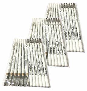 Moi Professional Lot de 36 crayons blancs pour marquage de la peau Esp. Laser 00·White Pure – Long avec taille-crayon M·O·I Professional 1900 g