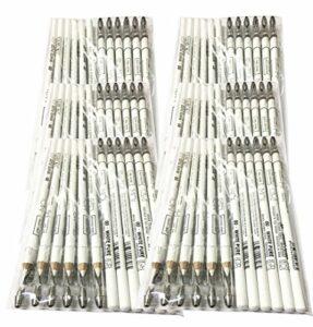 Moi Professional Lot de 72 crayons blancs pour marquage de la peau Esp. Laser 00·White Pure – Long avec taille-crayon M·O·I Professional 3000 g