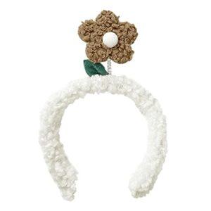 N/A/A Bandeau de Tournesol Mignon Support de Tournesol Accessoires pour Cheveux Arc Oreilles d'animaux Bandeau pour Filles